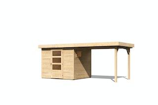 Karibu Woodfeeling Gartenhaus Oburg 2/3/4/6 mit 280 cm Schleppdach - 19 mm