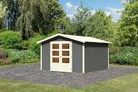 Karibu Woodfeeling Gartenhaus Amberg 1/2/3/4/5/6 terragrau - 19 mm