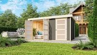 Karibu Woodfeeling Gartenhaus Mühlentrup 2 Zweiraumhaus - 19 mm