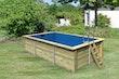 Karibu Rechteck Pool Gr. 3 - 350 x 530 cm - kesseldruckimprägniert