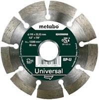 """Metabo Diamanttrennscheibe 115x22,23mm""""SP-U""""Universal """"SP"""""""