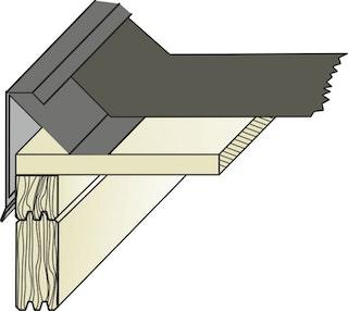 Flachdachblende - außen/innen für Flachdachhäuser ohne Blendbretter  (1 Stück, Typ 10)