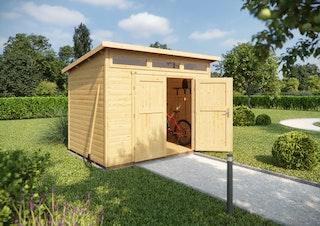 Weka Gartenhaus 264 mit Oberlichtern - 21 mm