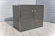T&J INNING Müllbox Edelstahl, Schiebedeckel, Tonne bis 120 l