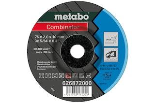 Metabo 3 Combinator 76x2,0x10 mmInoxTrenn- u. Schruppscheibegekröpfte Ausführung