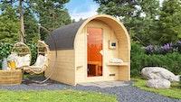 Karibu Gartensauna/Saunafass Fasshaus 2