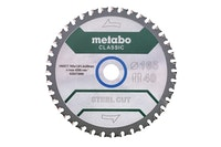 """Metabo Sägeblatt """"steel cut - classic""""165x1,6/1,2x20 Z40 FZFA/FZFA 4°"""