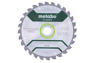 "Metabo Sägeblatt ""cordless cut wood - classic""216x1,8/1,2x30 Z28 WZ 5°"