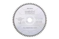 "Metabo Sägeblatt ""aluminium cut - professional""254x2,4/2,0x30 Z72 FZ/TZ 5°neg"