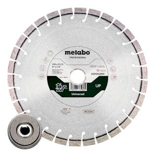 """Metabo Set: 1xDiamanttrennscheibe 230x22,23mm""""UP"""" +1xQuickspannmutter M14"""