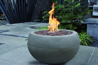 Gardenforma Gas Feuerstelle Marra, Beton-Optik grau, aus Faserbeton