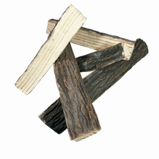 Gardenforma Brennholz aus Keramik für Gas Feuerstellen - Spaltholz Optik