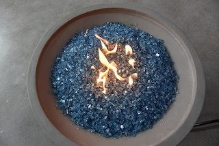Gardenforma Deko Glas Splitt für Gas Feuerstellen, Caribbean Blue 5-8 mm, 10 kg