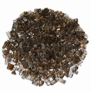 Gardenforma Deko Glas Splitt für Gas Feuerstellen, Bronze 5-8 mm, 10 kg