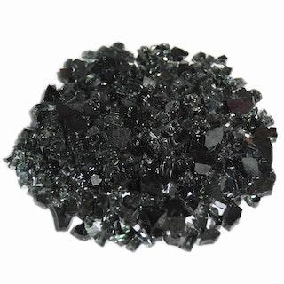 Gardenforma Deko Glas Splitt für Gas Feuerstellen, Carbon Black 5-8 mm, 10 kg