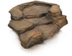 Oase Bachlaufschale Premium Grand Canyon schiefer braun, Links