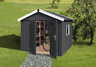 Weka Schwedenhaus - 32 mm (aufgedoppelt) Gartenhaus sägerau