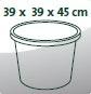Gefäßmaße (L/B/H): 39x39x45 cm