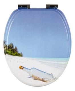 Sanitop WC-Sitz Dekor Flaschenpost mit Soft-Schließ-Komfort und Fast Fix