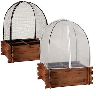 Noor Frühbeethaube / Vogelschutznetz für Hochbeet S 2er Set