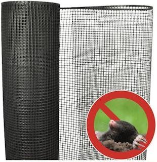 Noor Maulwurfblocker 1,2 x 50m Maschenweite 15x15 mm ca.320 g/m² schwarz