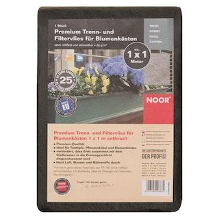 NOOR Premium Blumenkastenvlies grau 1 x 1 m