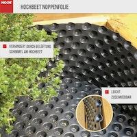 NOOR Hochbeet Noppenfolie 1x5m 400 g/m²