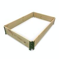 NOOR Hochbeet Rahmen DIY 120 x 80 x 20 cm natur