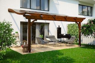 Skan Holz Terrassenüberdachung Verona o. Mittelpfosten Breite 541 cm