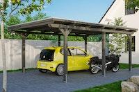 Skan Holz Emsland - Flachdach Carport aus Leimholz Breite 404 cm