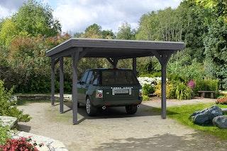 Skan Holz Spessart- Flachdach Einzelcarport aus Leimholz Breite 355 cm