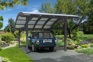 Skan Holz Schwaben - Bogendach Einzelcarport aus Leimholz Breite 434 cm