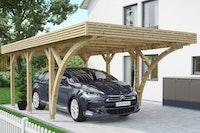 Skan Holz Solardachcarport Einzel naturbelassen