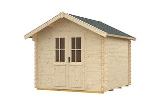 Skan Holz 28 mm Gartenhaus Palma inkl. gratis Fundamentanker/Pads