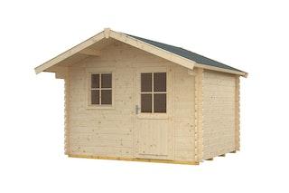Skan Holz 28 mm Gartenhaus Como inkl. gratis Fundamentanker/Pads