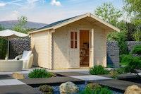 Skan Holz 28 mm Gartenhaus Faro inkl. gratis Fundamentanker/Pads