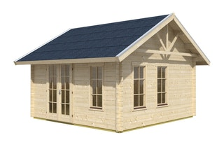 Skan Holz 70 mm Blockbohlenhaus Toronto 1 inkl. gratis Fundamentanker/Pads