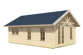 Skan Holz 70 mm Blockbohlenhaus Toronto 4 inkl. gratis Fundamentanker/Pads