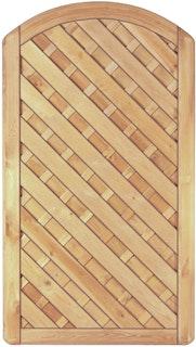 T&J MAXI DIAGONAL BOGEN-TOR Lamellen 100 x 180/160 cm
