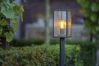 T&J TEJELIGHT SHAULA Stehlampe ALU schwarz 120 x 680 mm, 12 Volt, Filament 4 Watt 280 lumen, warm weiß