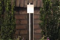 T&J TEJELIGHT ELEKTRA Stehleuchte Edelstahl inkl. Metall-Erdspieß