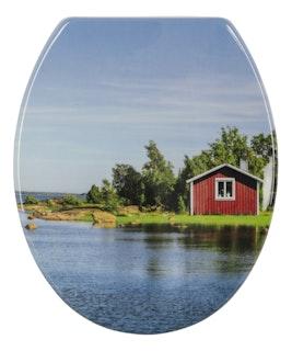 Sanitop WC-Sitz Dekor DP SSK Schwedenrot Fast Fix