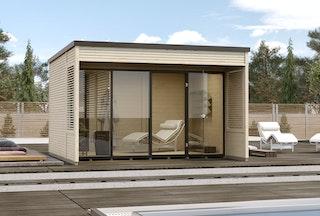 Weka Gartenhaus Designhaus Cubilis 2.0 mit Lamellenelementen - 45 mm
