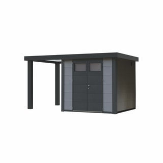 Wolff Finnhaus Metallgerätehaus Eleganto 2724 mit 170 cm Seitendach