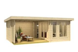 Weka Weekendhaus 441 2-Raum-Haus mit Terrasse - 44 mm