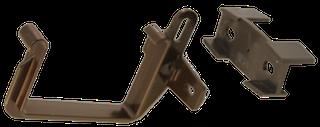 Rinnenhalter PVC RG 70 braun
