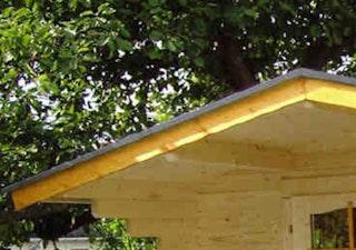 Giebel/Ortgang-Abdeckung für Satteldach-Gartenhäuser Typ 2b, 145mm, anthrazit