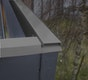 Blendenabdeckung für Gartenhäuser Typ 1a anthrazit (1 Stück)