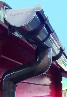 Kunststoff Dachrinnenset 301B für Pultdach/Flachdach Gartenhäuser