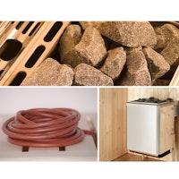 Weka Saunaofen-Set 11 inkl. 9 kW Kompakt-Ofen, Anschlusskabel, Saunasteine, integrierte Steuerung
